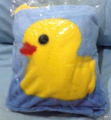 全新車用黃色小鴨抱枕棉被抱枕兩用台灣製