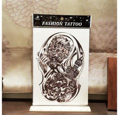 【萌古屋】泰國風鬼神手臂大圖 - 防水紋身貼紙刺青貼紙K29