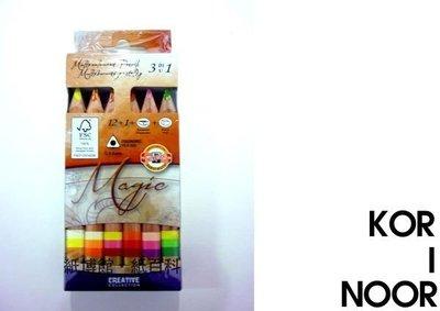 【紙百科】KOR-I-NOOR 魔術色鉛筆12+1附削筆器橡皮擦