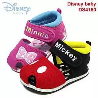 迪斯尼米奇米妮 防滑耐磨吸汗透氣網棉男女寶寶 學步護趾機能涼鞋 ~ 現貨