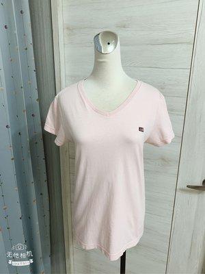 Ralph Lauren Polo Jeans Co粉色v領女性短袖上衣
