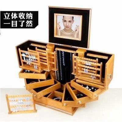 【優上】超大號首飾盒實木質歐式公主韓國...