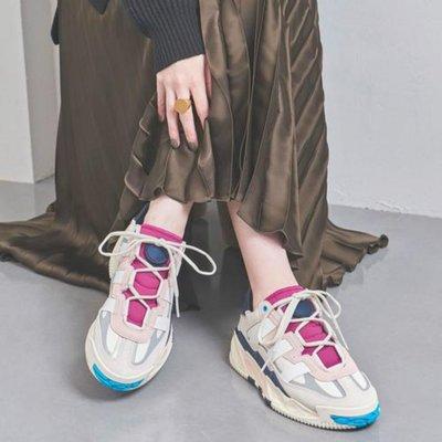 [RG專業代購] ADIDAS ORIGINALS NITEBALL 米紫藍配色透氣復古男女老爹鞋