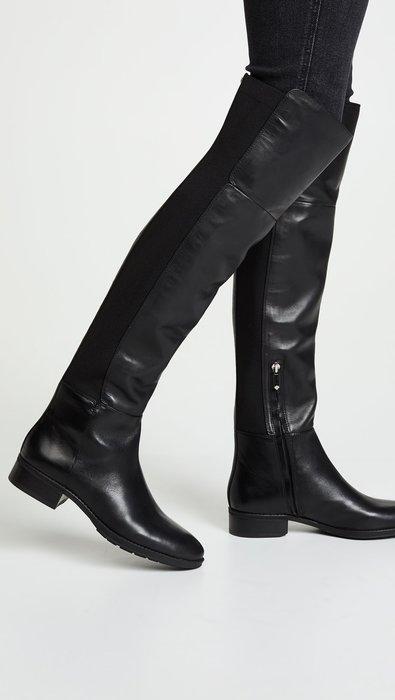 ◎美國代買◎Sam Edelman 彈性帶拼接雙材質經典百搭款過膝平底皮靴~歐美時尚