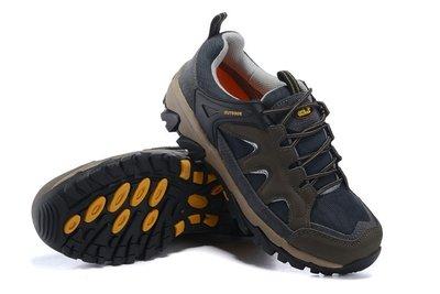 Jack Wolfskin狼爪戶外運動鞋 防水登山鞋徒步工作鞋 飛狼低幫休閒鞋頭層全牛皮四季男鞋9006灰色39-44碼