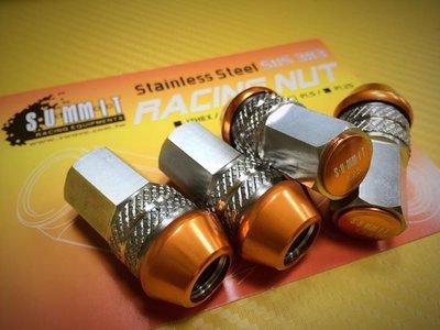 《大台北》億成汽車底盤精品改裝-SUMMIT 超剛性SUS303白鐵輪圈螺帽 17HEX / P1.25