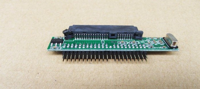 2.5 SATA硬碟轉IDE接頭 44 PIN 轉接卡 公頭 IDE to SATA 水平版