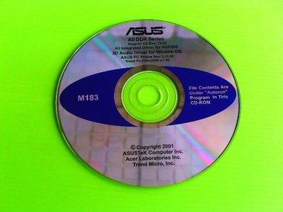 《啄木鳥小舖》<DRIVER~CD>華碩 Ali DDR系列主機板驅動光碟(M183)[適用Win 98,2000]