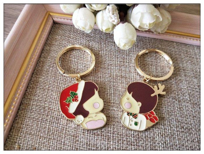 玫瑰森林-- ☆°* 美麗嚴選~ X'mas 聖誕 交換禮物  耶誕風格 鑰匙圈 (情侶款 男生 女生)特價