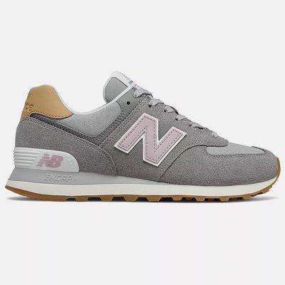 New Balance 574 B 女鞋 休閒 經典 緩震 麂皮 灰 玫瑰粉WL574NA2零碼