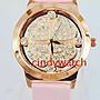 【Asiahito】2014暢銷款鑲鑽時尚手表四葉草真皮玫瑰金女士錶(共四色)批發