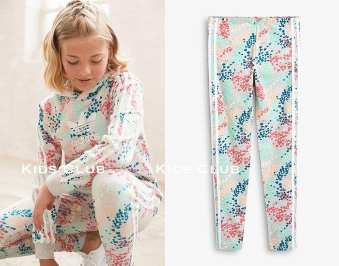 【Kids Club】7/10 NK英國直郵兒童女童大童adidas Originals愛迪達彩色花卉運動褲內搭褲長褲子
