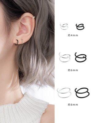 sppgge ONE~螺旋耳釘女純銀耳釘簡約冷淡風女小巧耳骨釘女耳骨環耳骨耳環耳圈