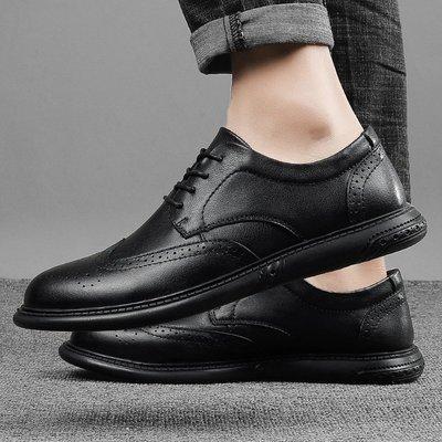 【時尚先生男裝】大碼男鞋2020新款頭層牛皮真皮雕花真皮正裝商務皮鞋男布洛克單鞋 2005240996