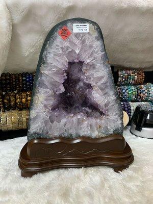 💎萬玉晶品💎天然巴西紫水晶洞 帶鈦晶紫鈦(金型)17.1公斤