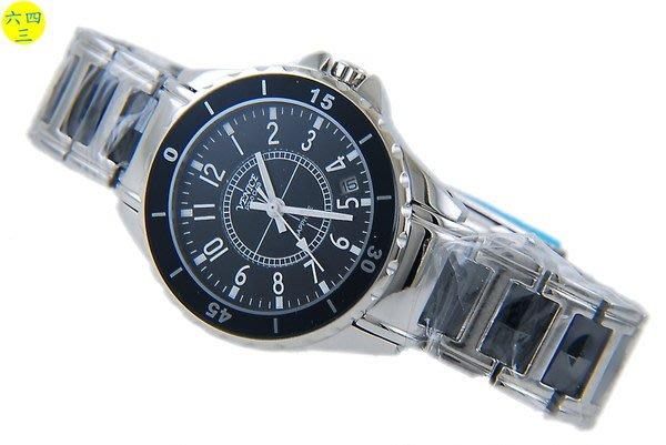 (六四三精品)VENICE(真品)真陶瓷.不銹鋼.高檔精準錶.阿拉伯.黑陶