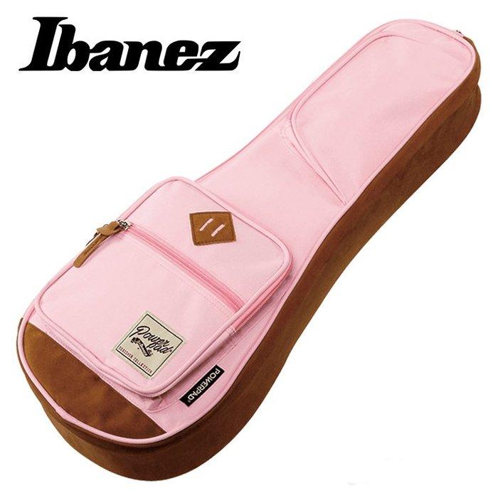 《小山烏克麗麗》Ibanez POWERPAD 原廠 21吋 烏克麗麗袋 琴袋 15mm厚 單背帶 粉紅 IUBS541