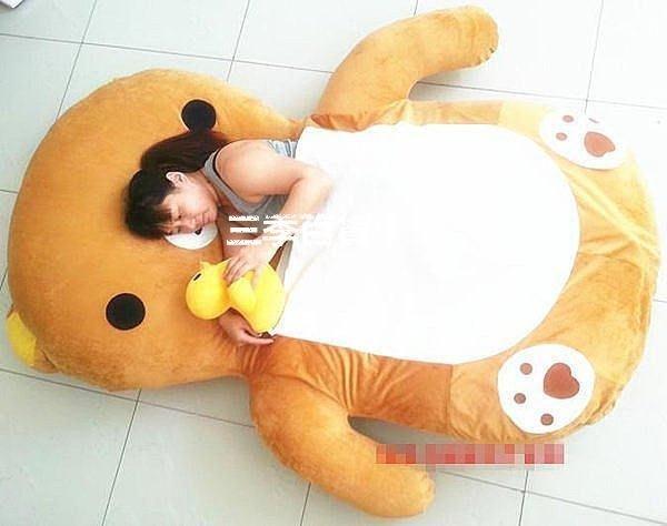 三季卡通榻榻米懶人沙發床輕松熊床墊懶人睡墊2.2米❖706