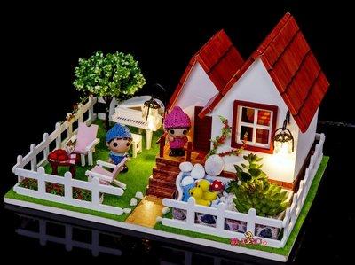 【酷正3C】DIY小屋 袖珍屋 娃娃屋 模型屋 材料包 玩具娃娃住屋 交換禮物 手工拼裝房子 D016浪漫假日
