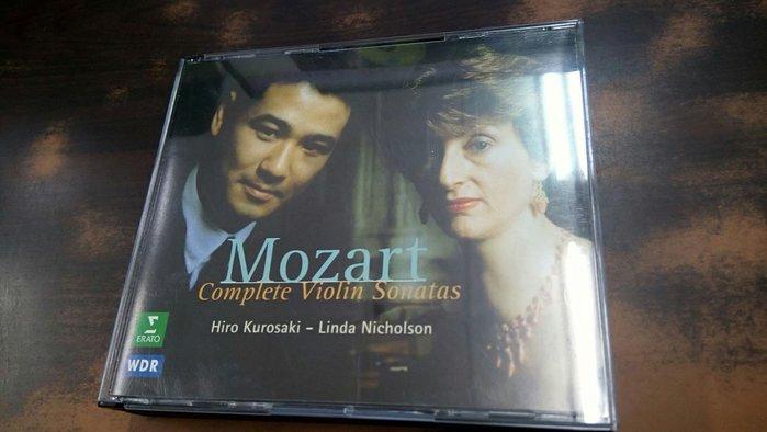 好音悅 Kurosaki Nicholson Mozart 莫札特 小提琴奏鳴曲 4CD ERATO 德版