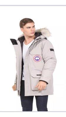 真品加拿大鵝牌CANADA GOOSE羽絨外套羽絨大衣中長款羽絨服(男用)高端極品專櫃貨真郊狼毛領可拆式