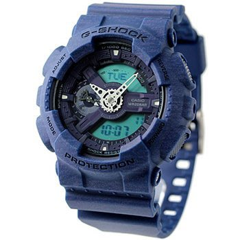 現貨 可自取 CASIO 卡西歐 手錶 G-SHOCK 51mm 針織紋路 藍色 耐衝擊構造 GA110HT-2A