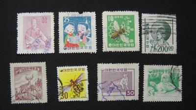 【大三元】韓國銷戳票- E104  各類老票8枚