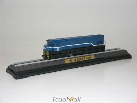 【喵喵模型坊】TOUCH RAIL 鐵支路 1/150 柴電機車紀念車R100型藍色 (NS3510)