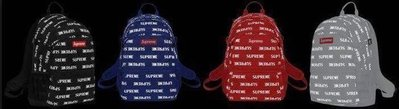 Supreme 41th 3M Reflective Repeat Backpack 反光