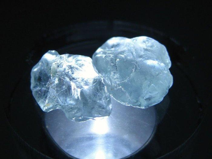 拓帕石 Topaz 天然無燒無處理 自然藍 原礦 標本 礦石 30【Texture & Nobleness 低調與奢華】