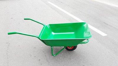 ㊣(專業手推車經銷商)㊣10英吋打氣輪烤漆厚板水泥車/水泥車/手推車/獨輪車/單輪車