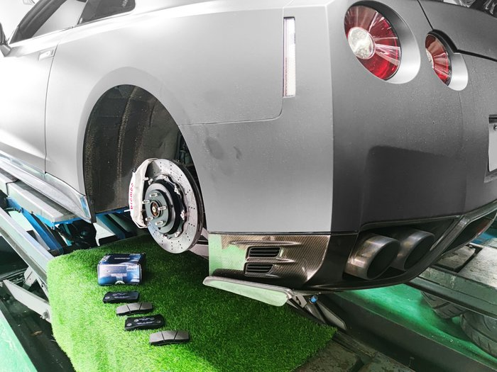 CS車宮車業 正德國 現貨 Nissan GTR R35 . F40 陶煞 鐵盤用 PAGID 後 1287 來令片