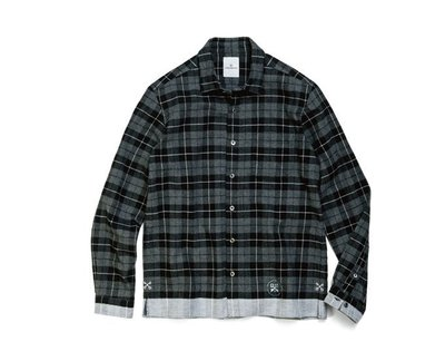 Uniform Experiment WHITE LINE FLANNEL COLLAR 9/12發