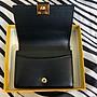 FENDI 芬迪 黑色金色方塊卯釘 卡片包 信用卡包 名片夾 包 XC7220 黑