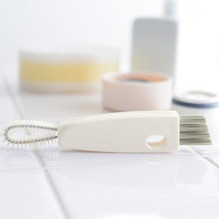 乾媽店。日本 MARNA 超好用 機能型 保溫瓶 縫隙清洗刷  三種刷頭 瓶蓋縫隙清潔刷