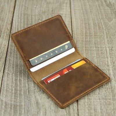 手工卡包 頭層零錢包 男式 迷你小卡包女超薄