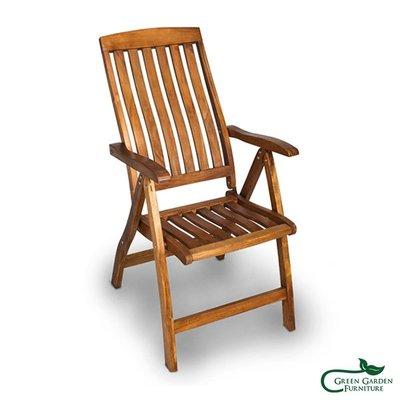 柚木 印娜調整椅(S)【大綠地家具】100%印尼柚木實木/戶外休閒椅/躺椅/單人椅/餐椅