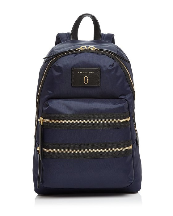 Coco 小舖 MARC JACOBS Nylon Biker Backpack 深藍色 尼龍後背包
