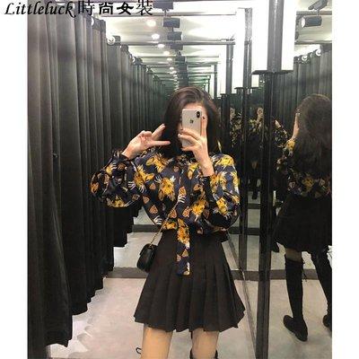 Littleluck~女裝襯衫女設計感小眾時尚冷淡風寬松百搭潮很仙的上衣洋氣襯衫正韓