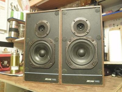 (老高音箱)英國老牌 ARCAM THREE 書架喇叭一對 LS3/5A同款設計(另有一對ARCAM TWO+)