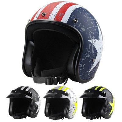 VOSS摩托車哈雷頭盔 復古頭盔 復古盔男電動安全帽復古頭盔