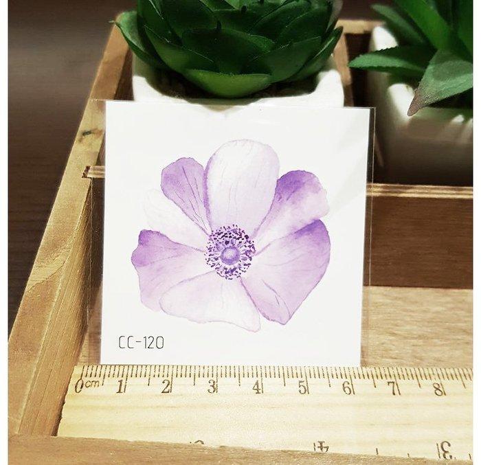 【萌古屋】花朵單圖CC-120 - 防水紋身貼紙刺青貼紙K38