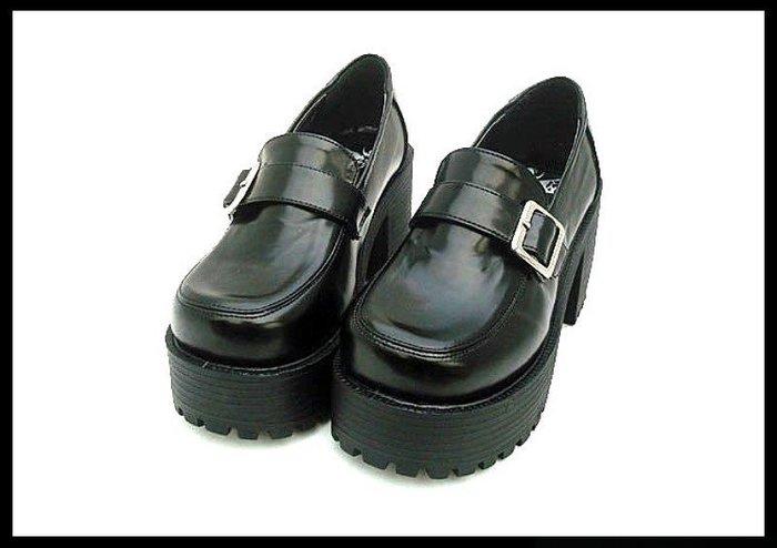 *mini & PUNK LOLO*日本經典單扣帶COS學生動漫鞋(9636.共5色.跟高8公分)LOLITA.PUNK