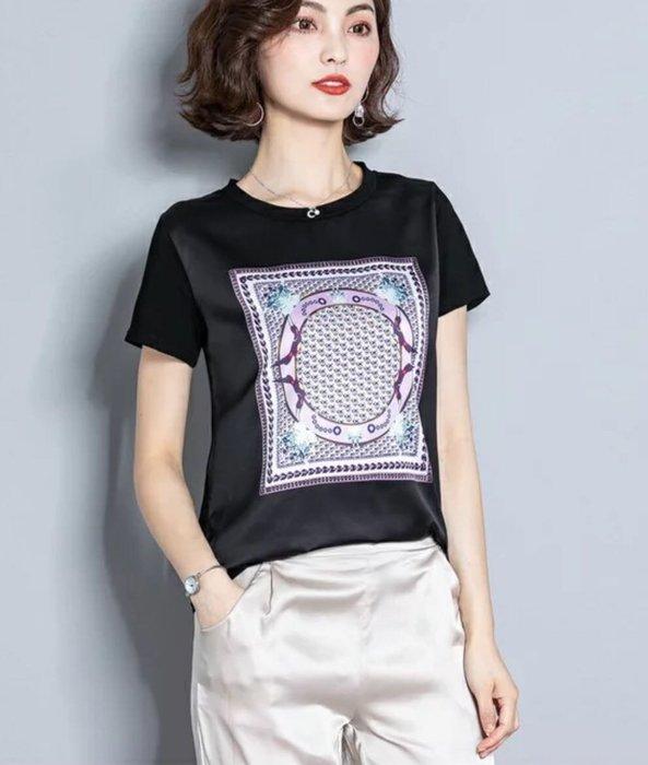 【艾蜜麗】蠶絲拼接珍珠光澤質感上衣