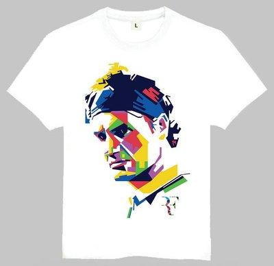 Roger Federer T-shirt 名人T恤 羅杰 費德勒 T恤 歐美潮流T恤圓領短袖