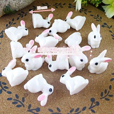 【酷正3C】袖珍屋擺飾 仿真奶油手機美容DIY 樹脂動物  苔蘚微景觀配件 10元/1個Z436[#5]立體坐姿兔子