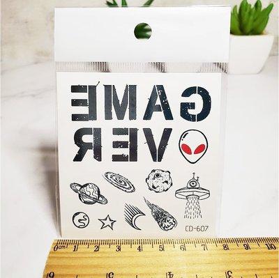 【萌古屋】英文外星人手指圖騰 - 防水紋身貼紙刺青貼紙CD-607 K12