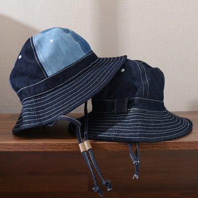 ∵ PRAY FOR FASHION ∴日系復古阿美咔嘰重磅休閒盆帽男女情侶遮陽帽牛仔漁夫帽