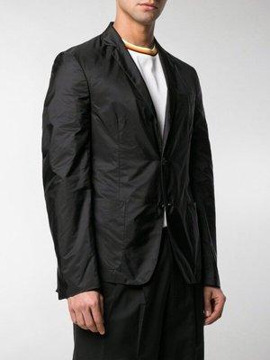 米蘭經典時尚 PRADA SINGLE BREASTED BLAZER 科技材質黑色休閒西裝外套