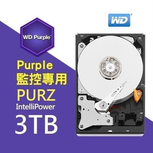 保誠科技~監控硬碟大降價3TB硬碟 含稅價 WD30PURZ 適用長時間 監視監控專用硬碟 影音儲存節能硬碟 WD紫標